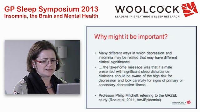 Bi-directional Relationship of Insomnia and Depression Dr Megan Kalucy