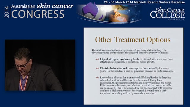 Skin cancers in the elderly What are the choices Dr Rob Norman