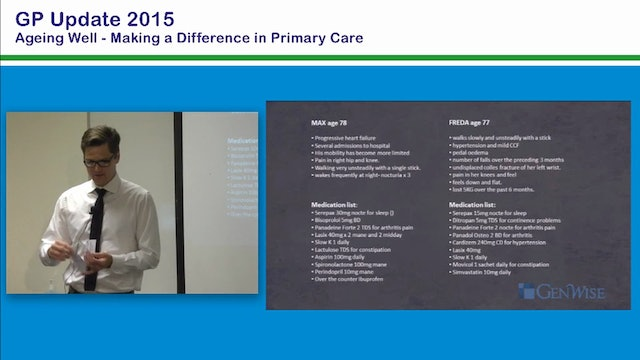 Assessing People Who Fall What Makes a Difference Dr Troye Wallet GP & Director, Genwise