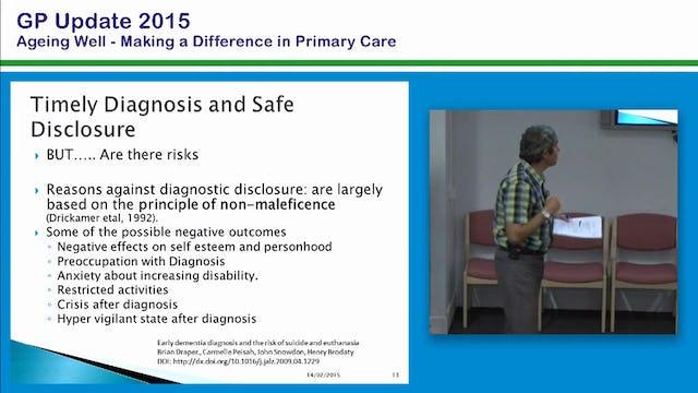 Dementia To Treat or not to Treat Cognitive Health Assessment Prof Mark Yates Consultant Physician in Geriatric Medicine Deakin University Ballarat Health Service
