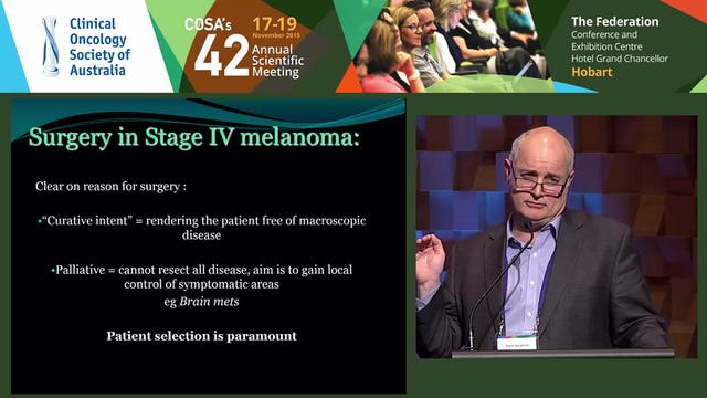 David Speakman Surgery and Stage IV Melanoma