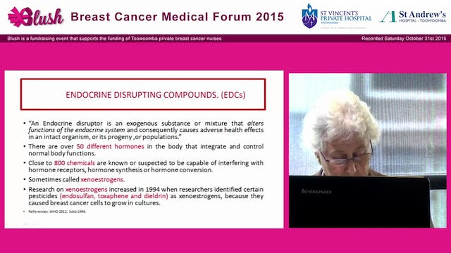 Chemical Pollutants and Breast Cancer; the environmental connection- Christine Baker