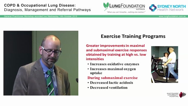 COPD and exercise - breathing new life into an old disease Dr Jonathan Williamson