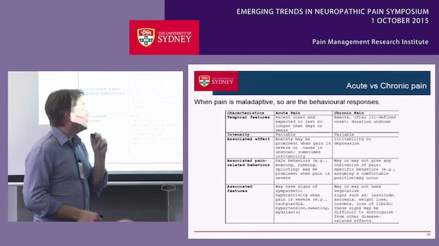 Neuroimmune Aspects of Neuropathic Pain Professor Mark Hutchinson