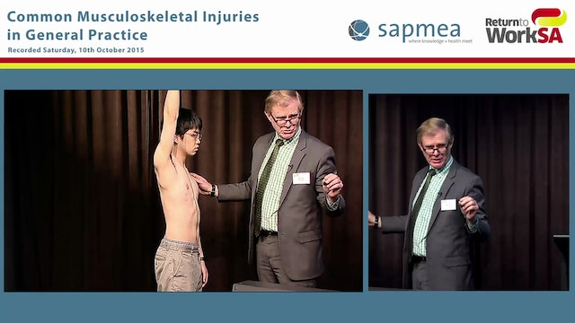 Shoulder examination demonstration