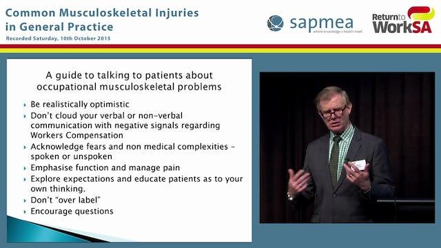 Shoulder injury, management and case studies