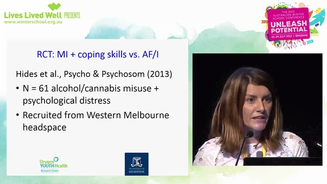 Improving treatment of youth substance use and comorbidity Associate Professor Leanne Hides, Deputy Director, Centre for Youth Substance Abuse Research (CYSAR), UQ