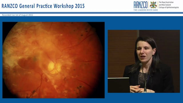 Current management of diabetic retinopathy - Dr Christine Younan