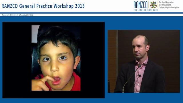 Pearls and pitfalls in paediatric ophthalmology - Dr Michael Jones