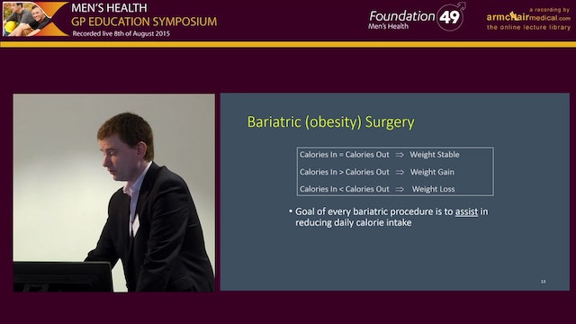 Obesity and Bariatric Surgery Mr Paul...