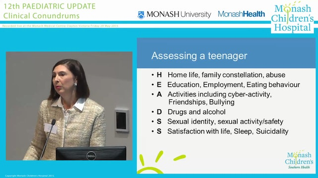 'In a depressed teen, when do you need to consider starting psychotropic medications' DR JACINTA COLEMAN