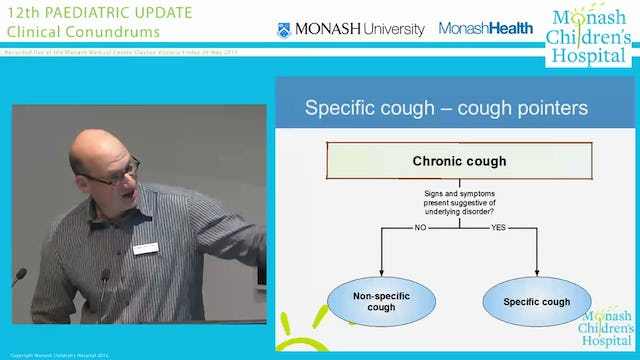 'Which child with chronic cough warrants investigation' DR MARC THEILHABER