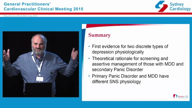 Depression and Cardiovascular Disease Some Practical Results from Basic Research AProf. David Barton MB BS FRANZCP AFRACMA PhD Psychiatrist, Clinical Director- MUH Sunshine, VIC