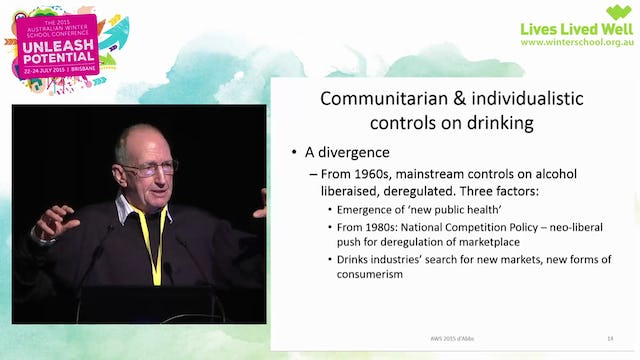 The 'community' as an agent of alcohol management in Aboriginal communities a critical examination Professor Peter d'Abbs, Menzies School of Health Research