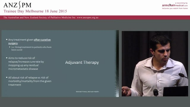 A crash course in cancer biology for palliative medicine trainees Michael Franco