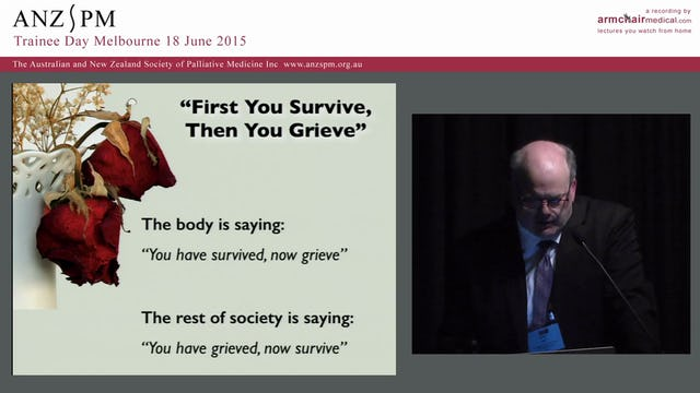 Introduction to grief and breavement care for palliative medicine trainees Chris Hall