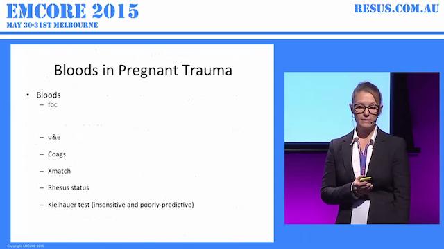 Trauma in pregnancy Dr Kirsty Dunn. E...