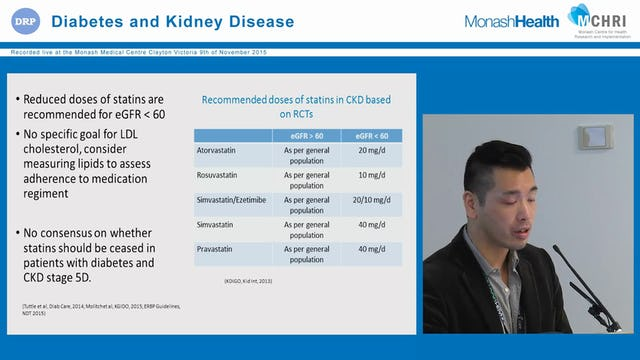 Management of diabetes in the setting of CKD Dr Clement Lo