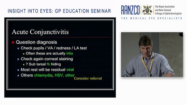 Acute Red Eye – diagnosis and management for Primary Care Dr Guy Bylsma