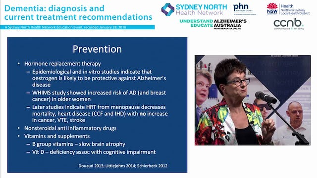 Dementia diagnosis & current treatment recommendations Professor Sue Kurrie