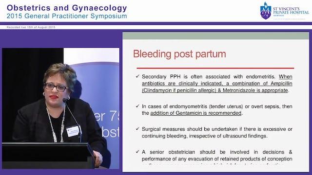 Bleeding Post Pregnancy Dr Marcia Bonazzi