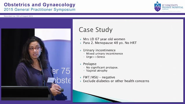 Female Urinary Incontinence and Prolapse Dr Alison De Souza
