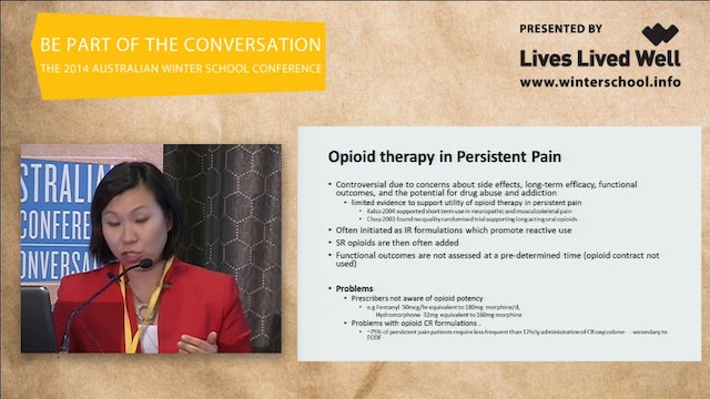 Opioids friend or foe – current evidence of the use of opioids in pain management and its risks and benefits Joyce McSwan, Clinical Consultant Pharmacist, GCML Persistent Pain Project Manager
