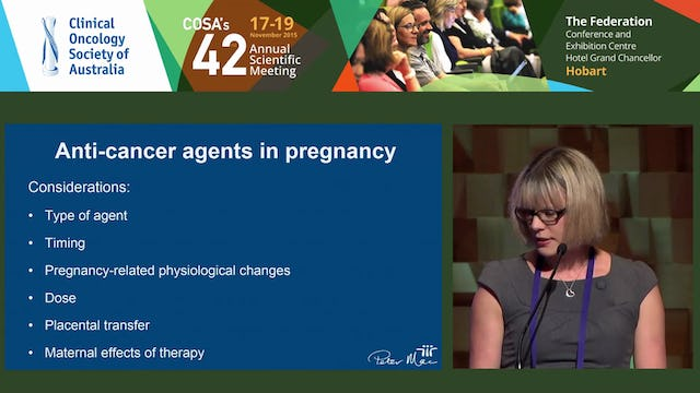 Sally L Brooks The safety of cancer therapies in pregnancy