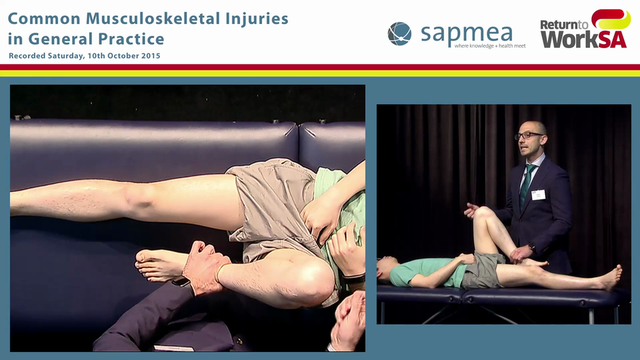 Knee examination demonstration
