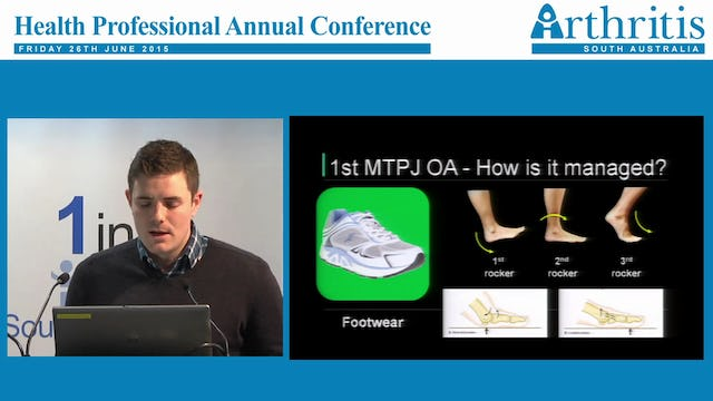 Foot osteoarthritis John Arnold B.Pod (Hons) PhD Lecturer Biomechanics University of South Australia Visiting Podiatrist Repatriation General Hospital
