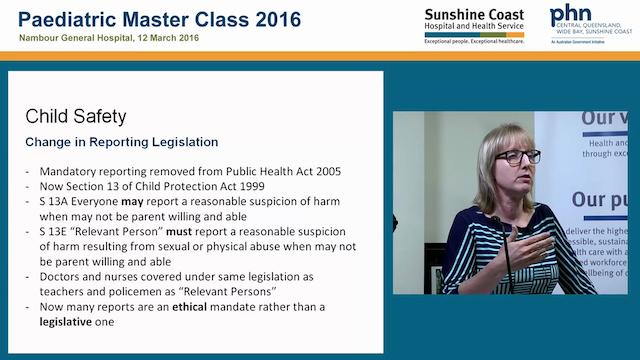 Changes to child safety legislation Dr Erica Baer