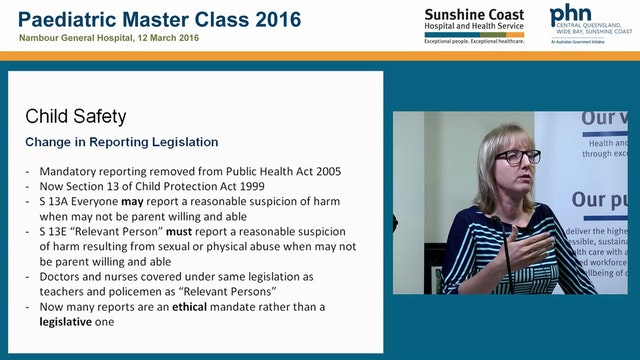 Changes to child safety legislation Dr Erica Baer