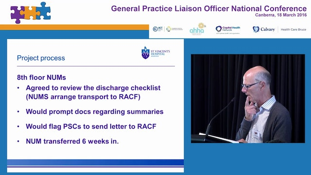 Discharge improvements project for residents of aged care facilities (RACF) Dr David Isaac