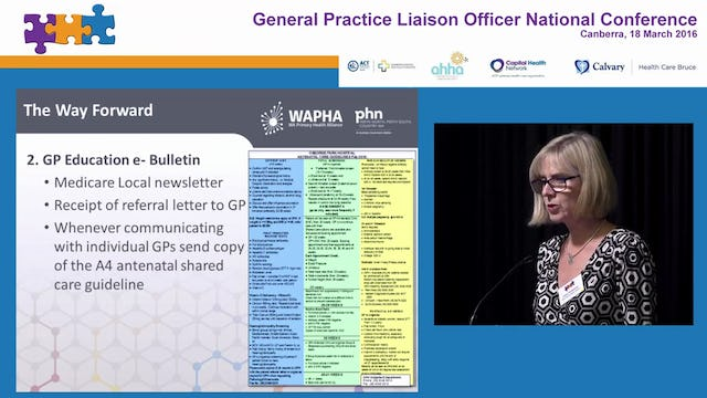 Improving antenatal clinic communication from GPs Dr Clare Matthews