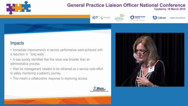 One time at the right time Active waitlist managment in outpatients Bronwyn Brown