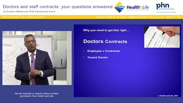 Doctor Contracts David Dahm