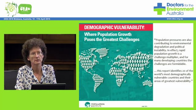 Planetary overload, population & Consumption Fertility control and ethical challenges Dr Jane O' Sullivan