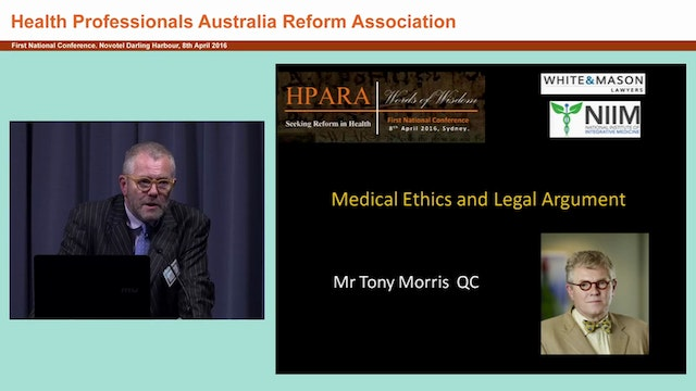 Medical ethics Legal argument Tony Mo...