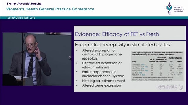 I think the problem is endometriosis Dr Jeffrey Perssson