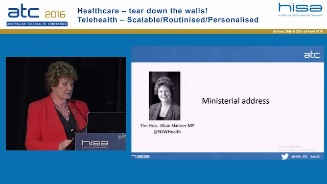 Ministerial address The Hon. Jillian Skinner MP NSW Minister for Health