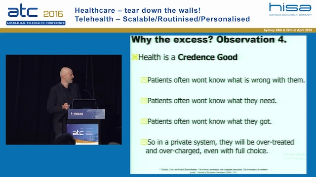 Tele-what? Trends, possibilities and barriers for the Australian healthcare system Prof Paul Frijters Professor of Health Economics, University of Queensland