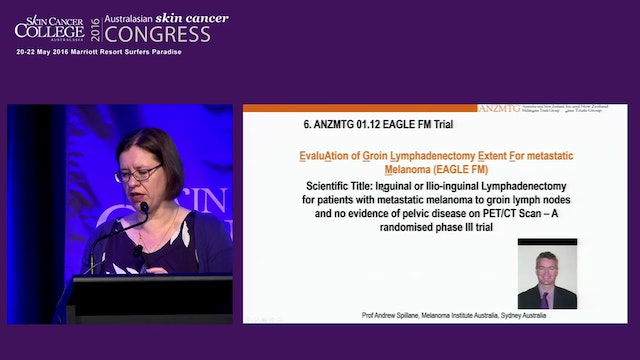 Investigator lead trials in Melanoma ...