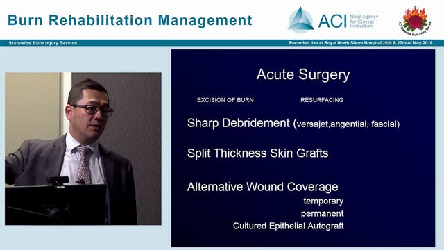Surgical Management in Burns Dr Johnny Kwei