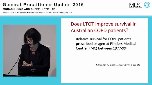 Oxygen in chronic lung disease Assoc Prof Christine McDonald