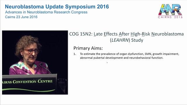 Late effects in neuroblastoma survivors An Update Dr Lisa Diller Professor of Pediatrics, Harvard Medical School