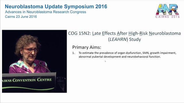 Late effects in neuroblastoma survivors An Update Dr Lisa Diller Professor of Pediatrics, Harvard Medical School