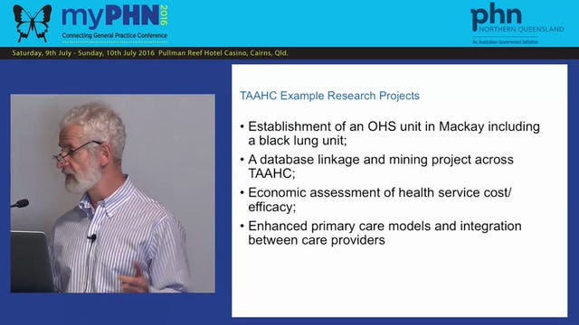 Tropical Australian Academic Health Centre Opportunities for the Northern Queensland Primary Health Care Network Prof Ian Wronski