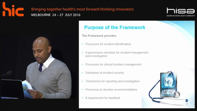 Clinical incident management framework My Health Record System Prashan Malalasekera