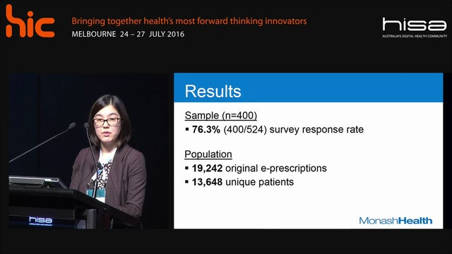 Patient perspectives of integrated EM prescribing and dispensing system Grace Lau