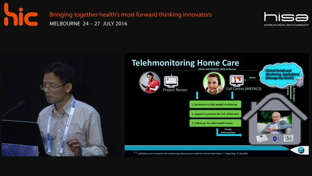 Telemonitoring Home Health Care for chronic heart failure Hang Ding